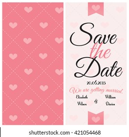 Wedding invitation card template. Vector art.