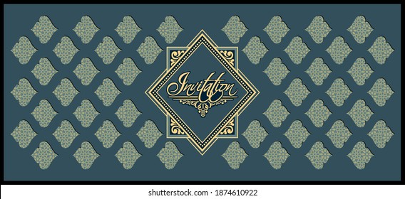 Wedding Invitation card templates. Exclusive vintage decorative vector designs.
