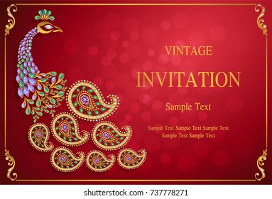 Indian Wedding Card Images, Stock Photos & Vectors