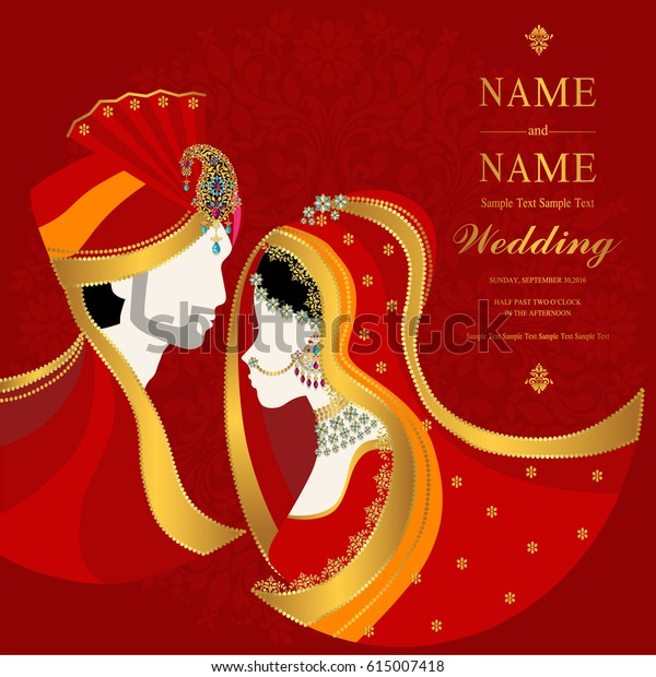 Wedding Invitation Card Templates Indian Man Backgrounds