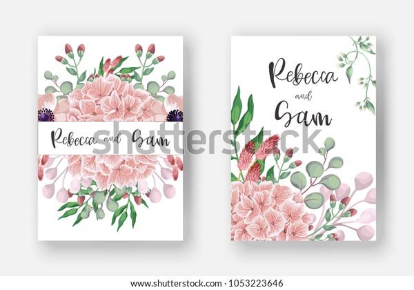 Wedding Invitation Card Templates Invite Card Stock Vector