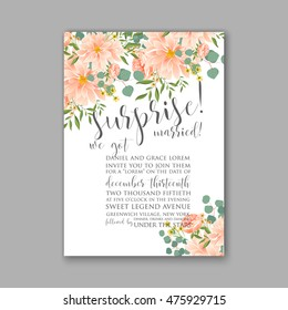 Wedding invitation or card with tropical floral background. Greeting postcard in grunge retro rose Elegance pattern with flower rose illustration vintage chrysanthemum Valentine day card Luau Aloha