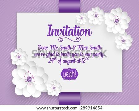 Wedding Invitation Card Vector Invitation Card Image Vectorielle De