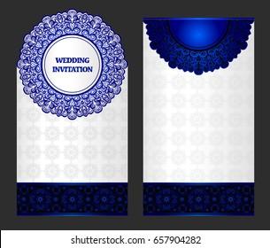 Wedding invitation or card . Vintage vector.