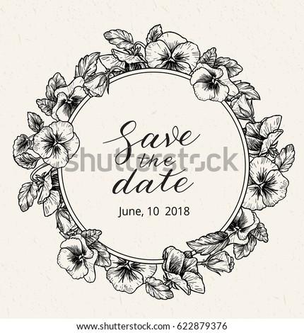 Wedding Invitation Design Template Save Date Vector De Stock Libre
