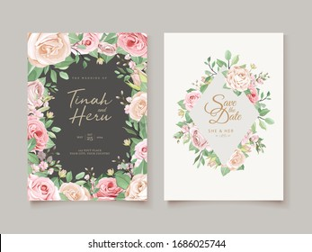 wedding invitation designs with floral wreath