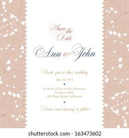 Wedding invitation, floral