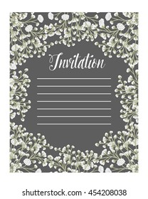 Wedding invitation / Floral frame / Flower border