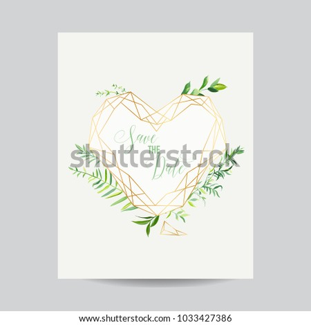 wedding invitation floral heart shape template stock vector royalty