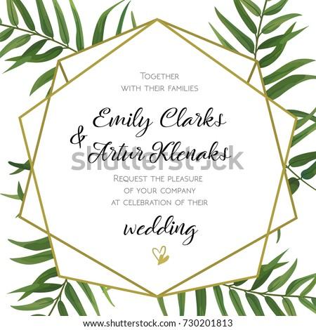 Wedding Invitation Floral Invite Card Design Stock Vektorgrafik
