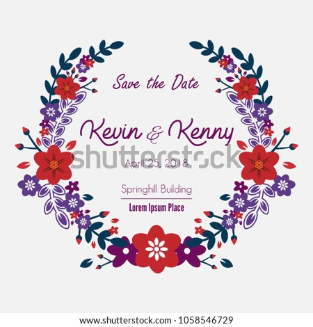 Wedding Invitation Frame Border Template Stock Vector Royalty Free