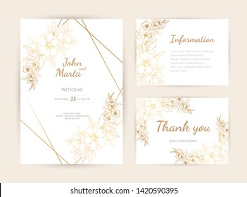 Gold White Wedding Invitations Images Stock Photos Vectors Shutterstock