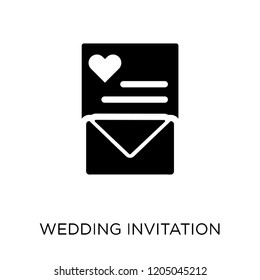 Wedding Invitation Vector Linear Icon Isolated Stock Vector Royalty