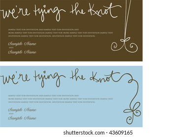 Wedding Invitation Panel - We're Tying the Knot