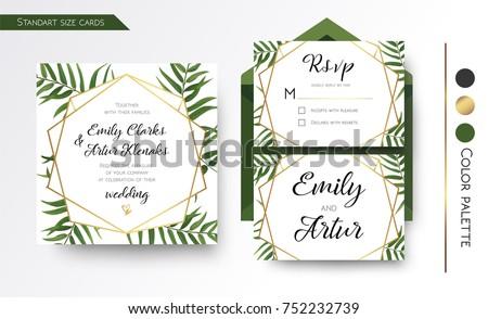 wedding invitation save date rsvp invite のベクター画像素材