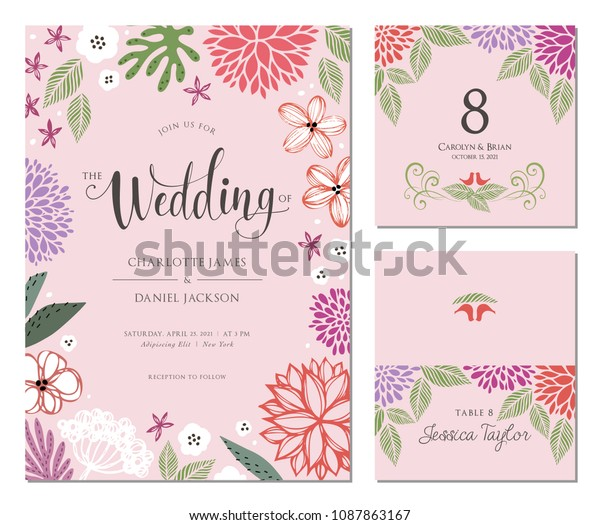 Free Table Place Card Template from image.shutterstock.com