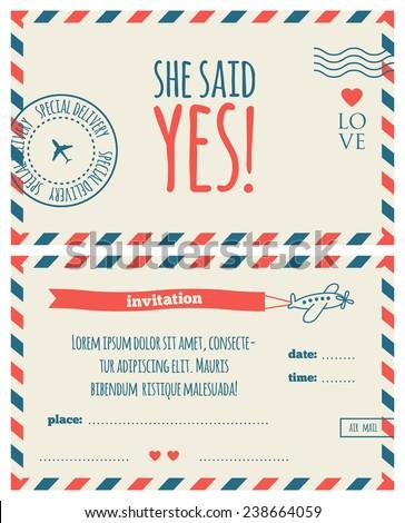 marriage invitation mail
