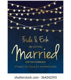 WEDDING INVITATION TEMPLATE DESIGN. Editable vector illustration file. Party. celebration card layout.