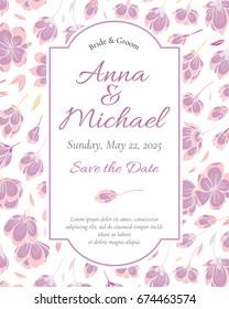 Wedding Invitation template. Modern design. Tradition decoration for wedding. Vector illustration