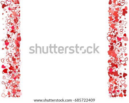 wedding invitation template red flying hearts stock vector royalty