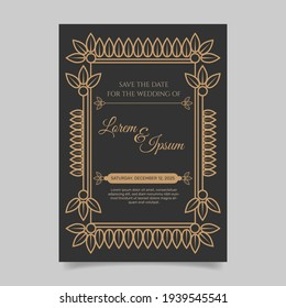 Wedding invitation template style. - Vector.