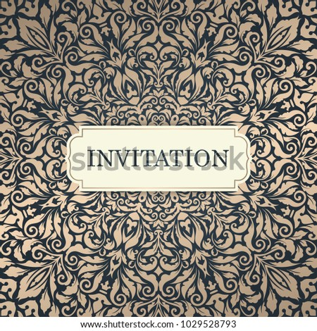 wedding invitation template vintage invitation card design abstract floral background vector illustration