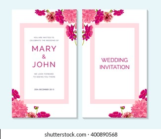 Wedding invitation, thank you card, save the date cards. Wedding invitation, baby shower, menu, flyer, banner template.
