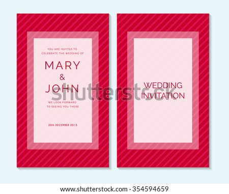 Wedding Invitation Thank You Card Save Stock Vector Royalty Free