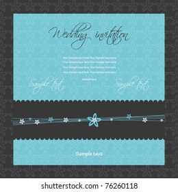 Wedding invitation, vector