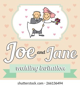 Wedding invitation for you happiness day