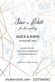Save Date Design Template Formal Invite Vector De Stock Libre De
