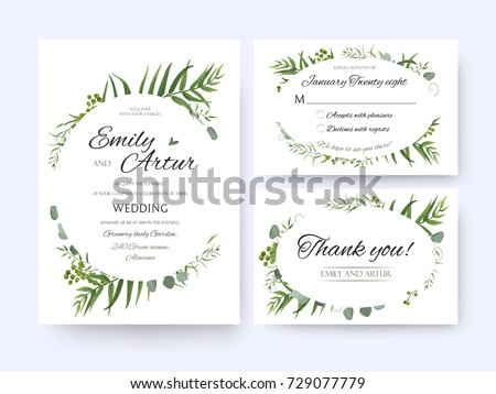 wedding invite invitation rsvp thank you のベクター画像素材