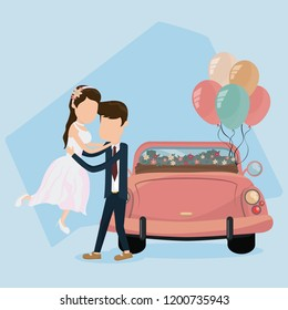 Wedding just married card