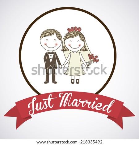 wedding label design vector illustration stock vector royalty free