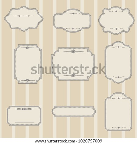 wedding label templates stock vector royalty free 1020757009