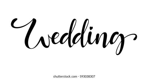 wedding lettering sign