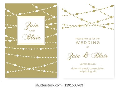 elegant gold damask border wedding invitation stock vector royalty