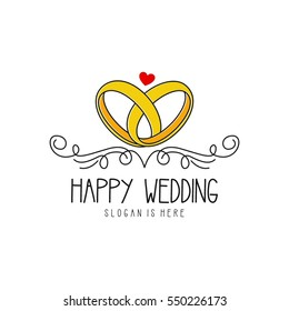 Wedding logo design template
