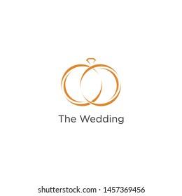 wedding rings logo images stock photos vectors shutterstock https www shutterstock com image vector wedding logo rings symbol 1457369456