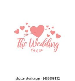 Wedding Logo Stock Vector Template