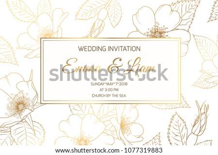 wedding marriage event invitation card template のベクター画像素材