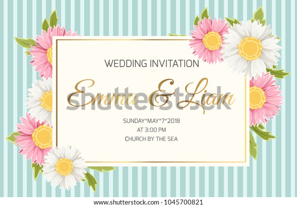 Wedding Marriage Event Invitation Card Template Stock Image