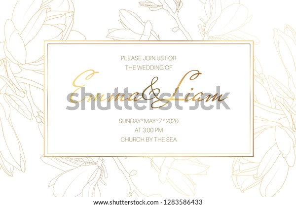 Wedding Marriage Event Invitation Card Template Stock Vector ...