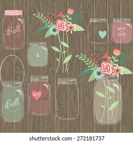 Wedding Mason Jar floral Collections