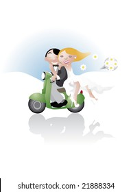 wedding on a motorcycle