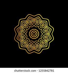wedding ornament vector for icon or logo