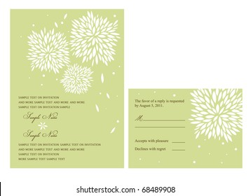 Wedding or Party invitation and Reply card