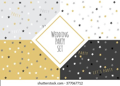 Wedding party pattern set