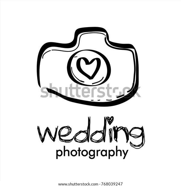 Wedding Photography Photo Studio Hand Drawn Stock Vector Royalty Free 768039247