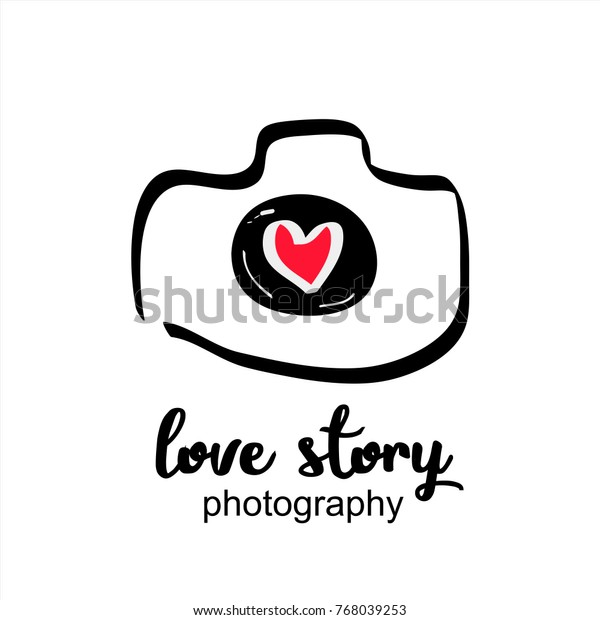 Wedding Photography Photo Studio Hand Drawn Stock Vector Royalty Free 768039253